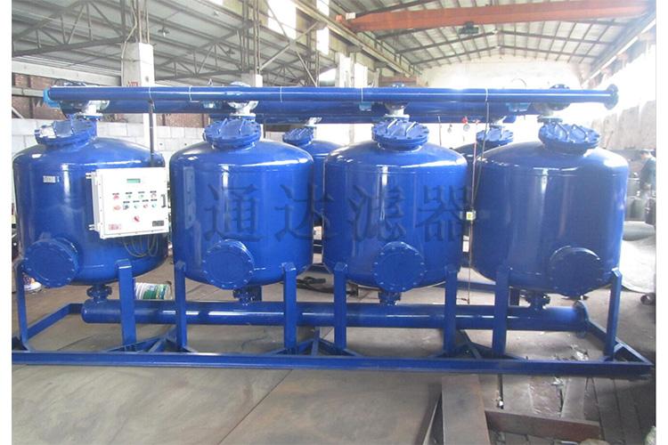 工业水浅层砂过滤器订制4罐撬装