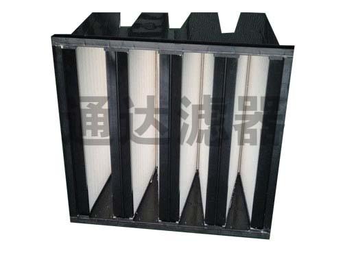 <b>W型塑胶框组合式大风量亚高效空气过滤器</b>