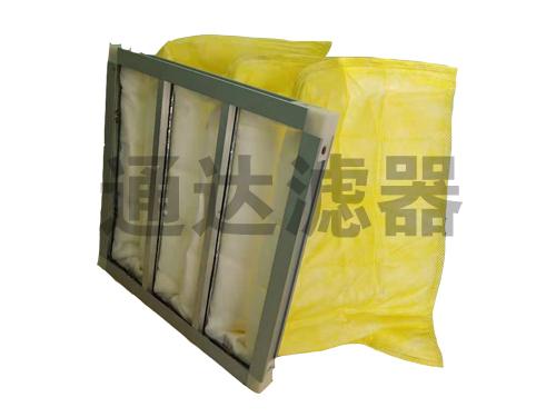 铝合金边框黄色中效空气过滤器