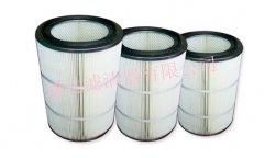 聚脂覆膜纤维空气滤筒